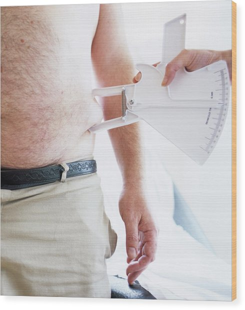 Body Fat Assessment Wood Print by Ian Hooton/science Photo Library