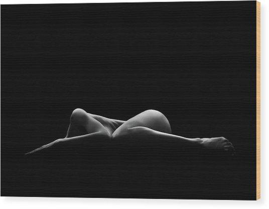 Bodyscape Wood Print by Leon Schr?der