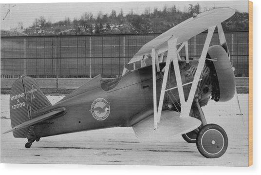Boeing 100-f  P-12 Prototype Wood Print by Hank Clark
