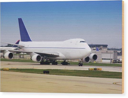 Boeing 747 Cargo Airplane Wood Print