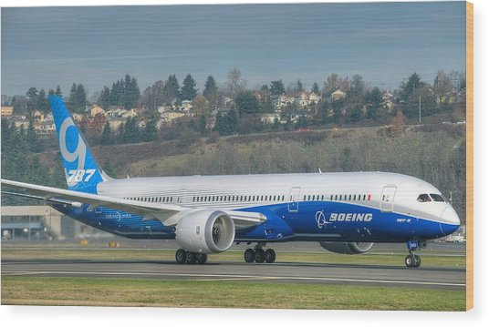 Boeing 787-9 Takeoff Wood Print