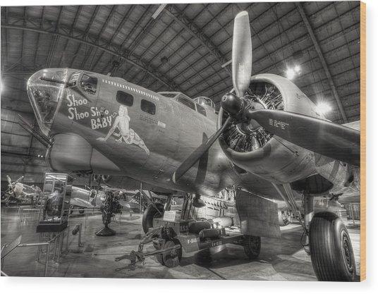 Boeing B-17 Bomber Wood Print