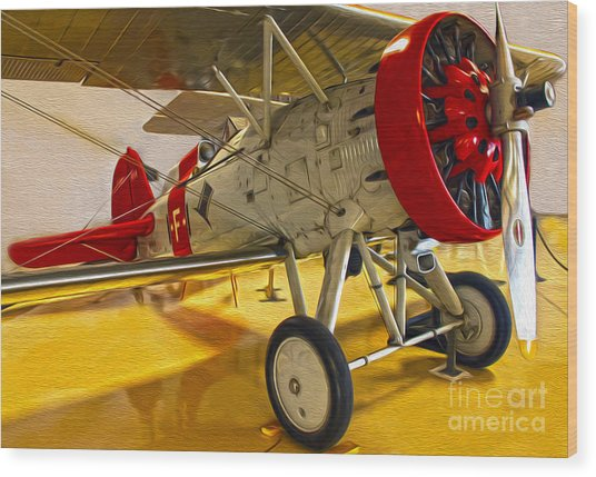 Boeing Fighter 4b-1 - Front Wood Print