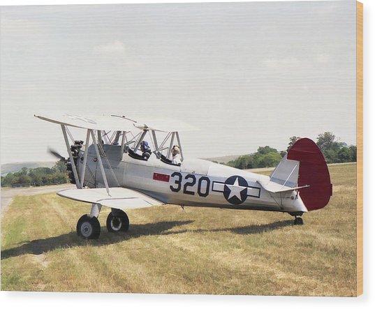 Boeing Stearman Wood Print
