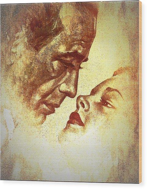 Bogart And Bacall Wood Print