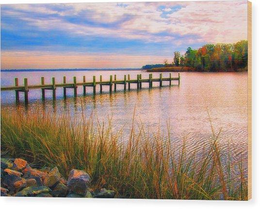 Bogles Wharf Landing Wood Print