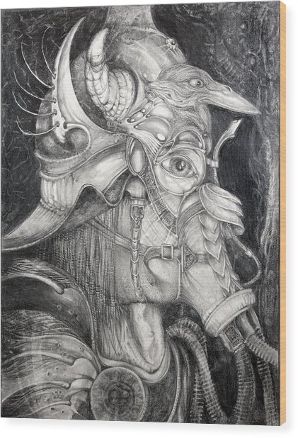 Bogomils Duckhunting Mask Wood Print