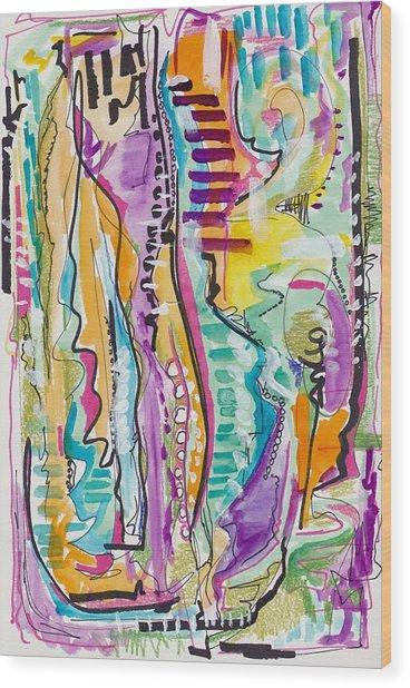 Bohemian Abstract Wood Print