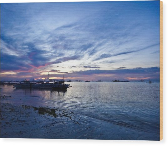 Bohol Sunrise Wood Print