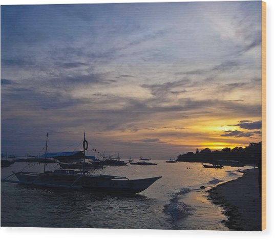 Bohol Sunset Wood Print