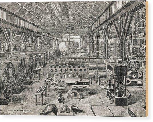 Boiler Factory Wood Print