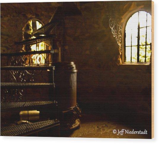 Boiler Room Wood Print