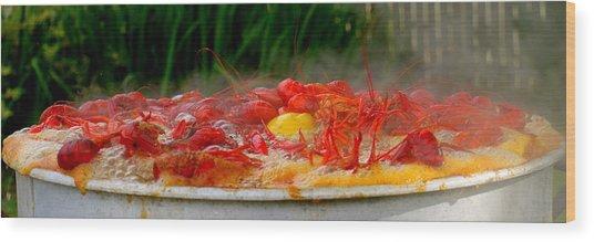 Boiling Crawfish Wood Print