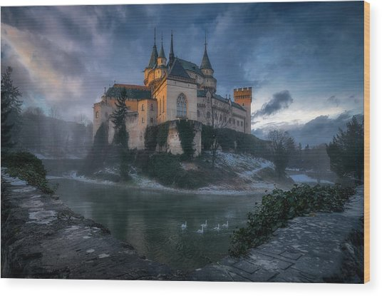 Bojnice Castle Wood Print