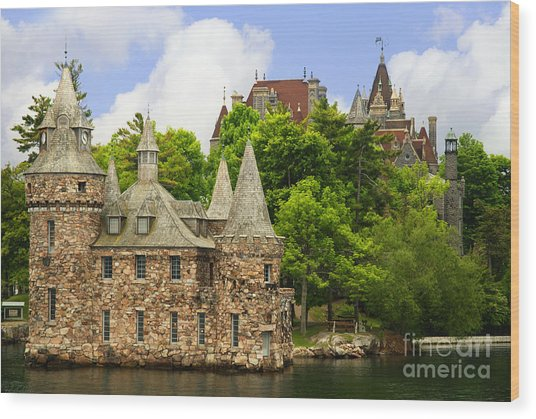 Boldt Castle Wood Print