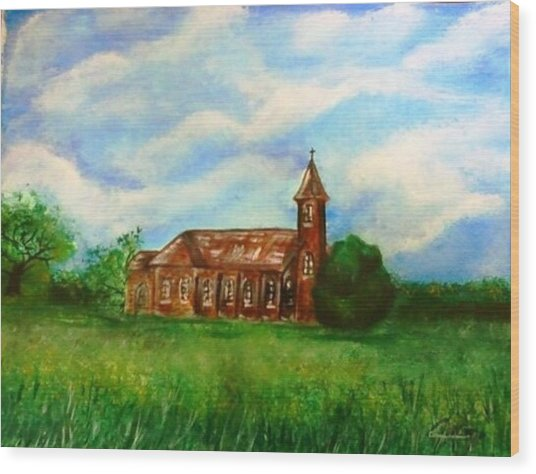 Bomarton Church Wood Print