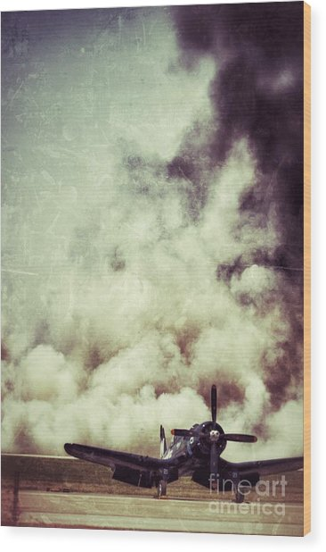 Bomb Run Wood Print