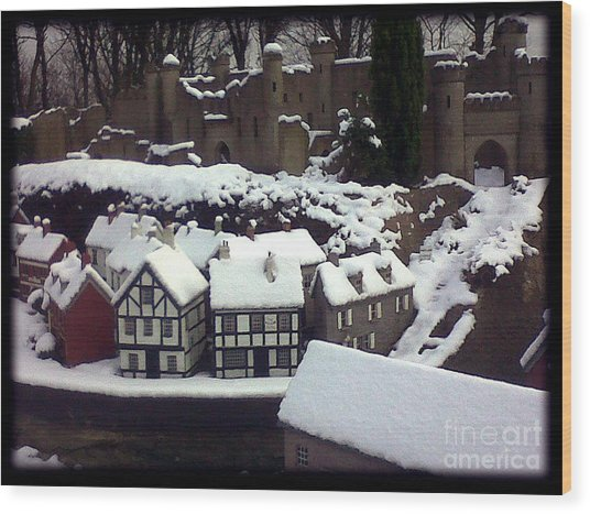 Bondville Model Village Wood Print by Merice Ewart