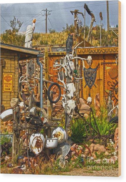 Bone Shack - 05 Wood Print by Gregory Dyer