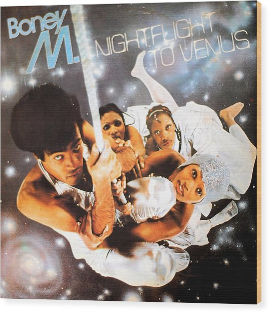 Boney M Night Flight To Venus Wood Print
