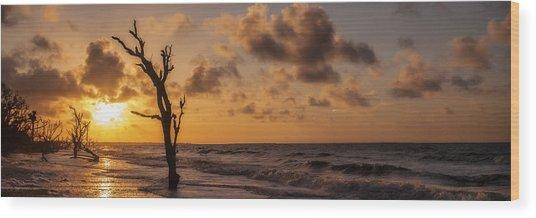 Boneyard Sunrise Wood Print