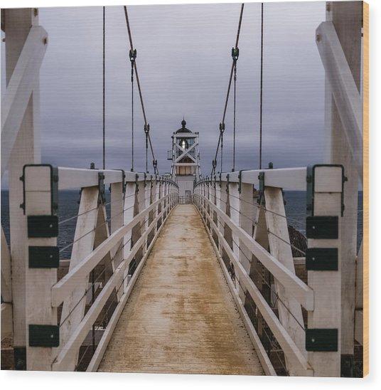 Bonita Point Lighthouse Wood Print