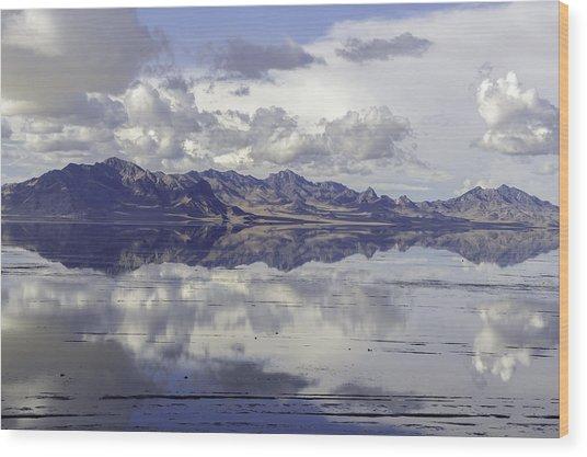 Bonneville Salt Flats Wood Print