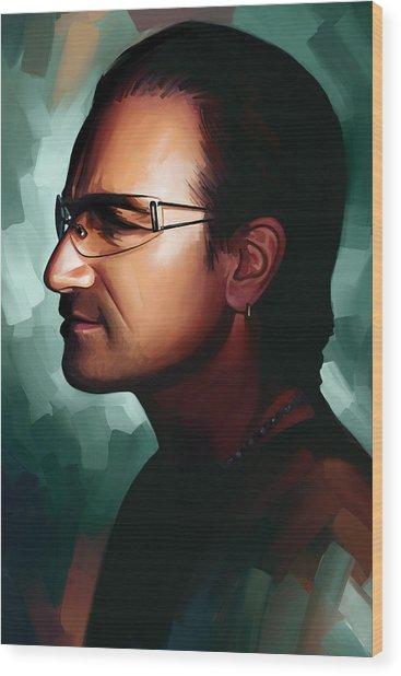 Bono U2 Artwork 1 Wood Print