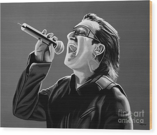 Bono U2 Wood Print