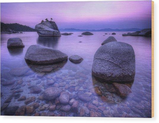 Bonsai Rock Wood Print