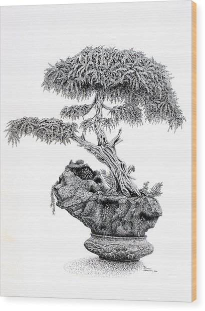 Bonsai Wood Print