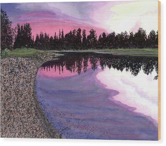 Bonsette's Sunset Wood Print