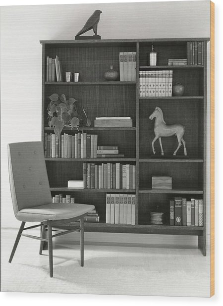 Bookcase By The Baker Furniture Company Wood Print