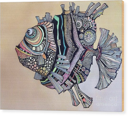 Boomer The Fish Wood Print