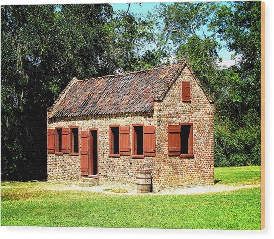 Boone Hall Plantation Slave Quarters Wood Print