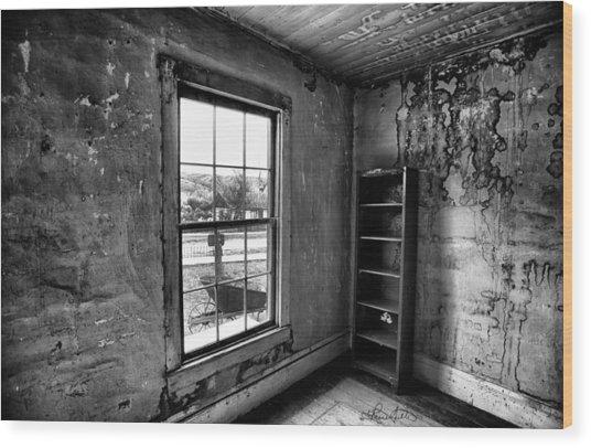 Boo's Room - Black And White Wood Print