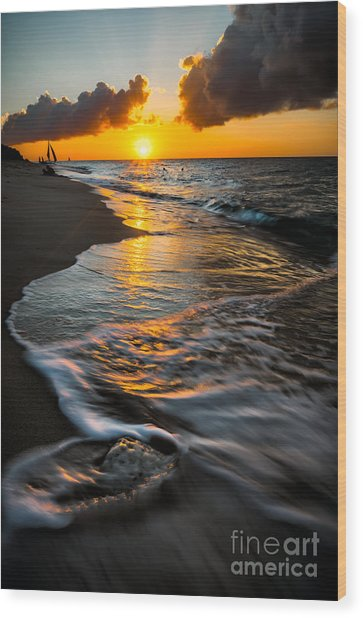 Boracay Sunset Wood Print
