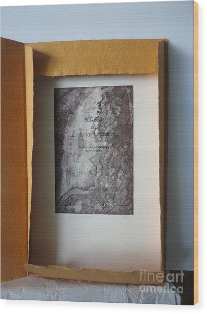 Borges Ou La Citation Necessaire Wood Print