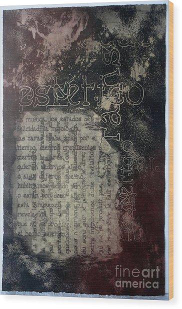 Borges 5 Wood Print