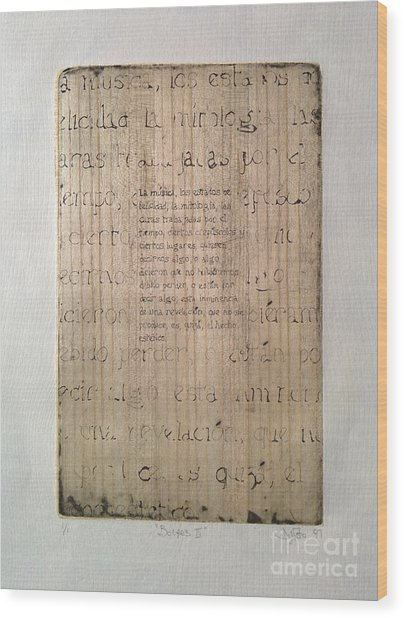Borges 4 Wood Print
