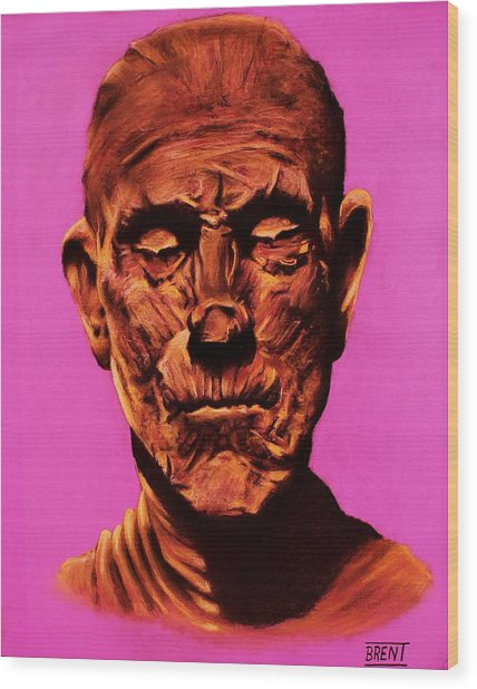 Borris 'the Mummy' Karloff Wood Print