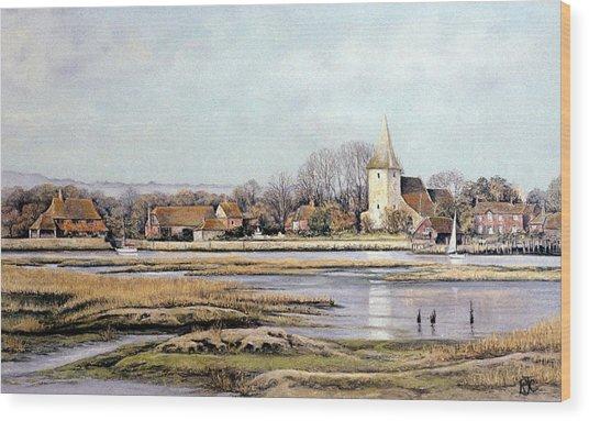 Bosham Harbour Wood Print