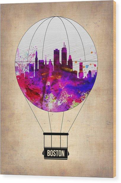 Boston Air Balloon Wood Print