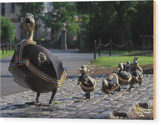 Boston Bruins Ducklings Wood Print