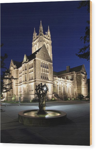 Boston College Gasson Hall Wood Print