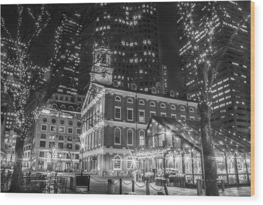Boston Faneuil Hall  Wood Print