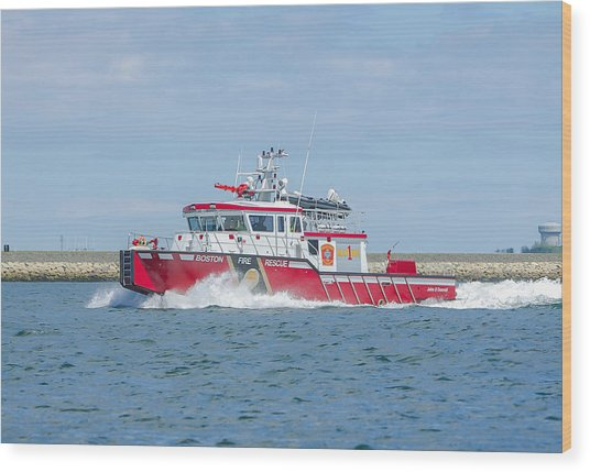 Boston Fire Marine 1 Wood Print