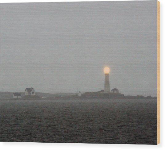 Boston Harbor Light 01 Wood Print