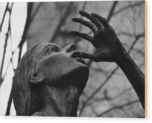 Boston Irish Famine Memorial Wood Print