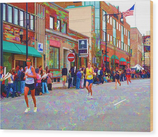 Boston Marathon Mile Twenty Two Wood Print